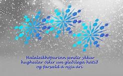 Halaleikhópurinn sendir ykkur hugheilar óskir um gleðilega hátíð og farsæld á nýju ári.