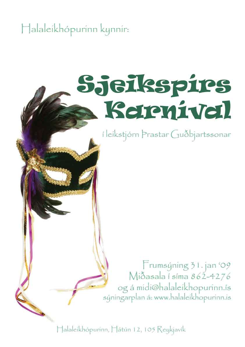 Sjeikspírs Karnival eftir William Shakespear